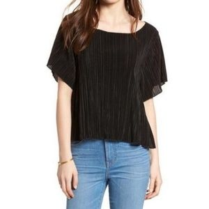 Madewell Sz M Micropleat Blouse Texture & Thread